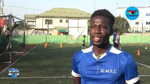 Pinnacle Ciroma FC striker, Justice Asante