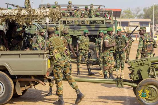 Some military officers were attacked on Tuesday