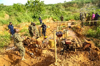A galamsey site