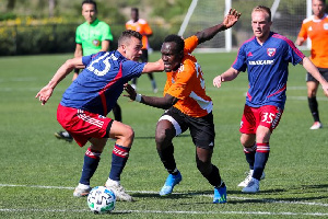 Francis Atuahene in action for San Diego Loyal.