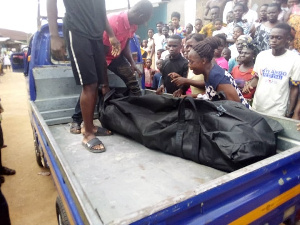 Body of the diseased being conveyed away