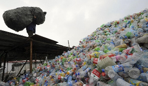 Plastic waste has clogged most gutters in Ghana's capital city