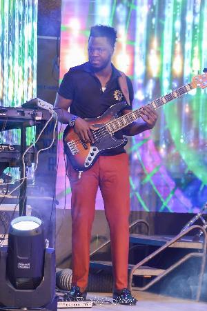 Bass player, Emmanuel Affreh