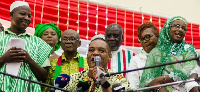 CPP flagbearer, Ivor Greenstreet with some members of the party
