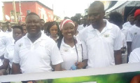 Officials of NABCO during the walk