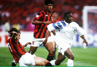 Abedi Pele helped Marseille clinch three successive Ligue 1 titles during the 1990s