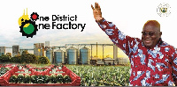 President Akufo-Addo has said that each of the 216 districts across the country would get a factory
