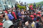 The NDC held a protest on Tuesday