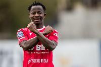 Yaw Yeboah plays for Wisla Krakow
