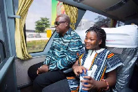 Former President John Mahama with daugther Farida