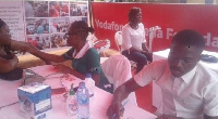 Many pregnant women took advantage and underwent free scanning during the exercise held in Berekum