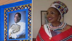 Combination photo of the late King Zwelithini and new regent Queen MaDlamini