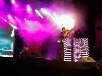 Joey B administered  superior party aura at the Sarkodie's Rapperholic concert.