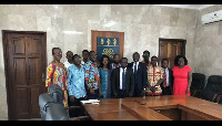 A group photo of the Vice Chancellor and the SRC after the meeting