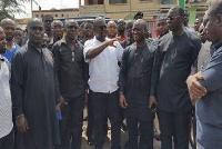 Francis Asenso-Boakye visited the premises of Royal Gas Filling Station