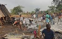 Over 500 residents of Apagya-Dagombaline in Kumasi have lost their homes.