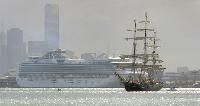 A sailing ship
