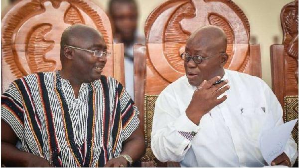 President Nana Akufo-Addo and Vice president Mahamudu Bawumia