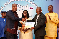 Kwame Sefa Kayi won the 2016 GJA best journalist award