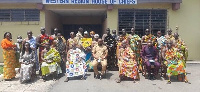 Deputy Information Minister, Pius Enam Hadzide and Dr Dacosta Aboagye with members of the house