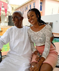 Yvonne Nelson took this picture with her father on January 6, 2017.