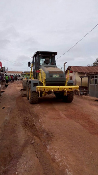 The road from blue cross junction to Gbawe lorry station has been reshaped