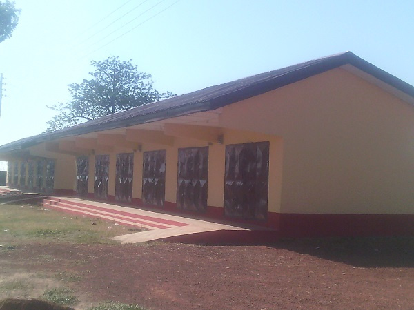 The new market facility for the kapkayili community in Tamale