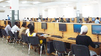 Students at ICT center.     File photo.