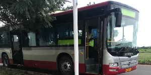 One of the H.M Boafo shuttle buses