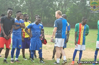 Winful Cobbinah has commenced training with Hearts of Oak
