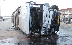 Accident Bus On Road