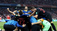 Croatia players celebrate their qualification to the semis
