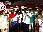 Mike Oquaye Jnr, Oppong Nkrumah shake Dome Kwabenya