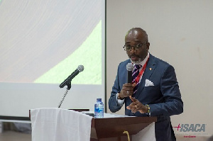 President of ISACA-Accra chapter, Mr. Carl Sackey