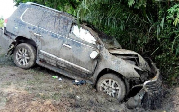 The Toyota Land Cruiser Mr. Woyongo was driving
