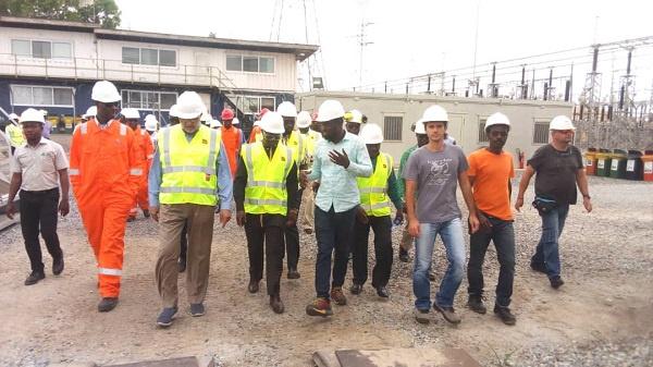 Energy Minister, John Peter Amewu tours Takoradi Regulating and Metering Station
