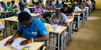 File photo of students writing examinations