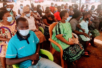 Cross section of people who visited the center for COVID-19 jabs