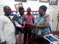 Emmanuel Tweneboah Koduah picking his forms at the party's office