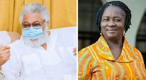See what Prof Naana Jane Opoku-Agyemang wrote in the foreword of 'Working with Rawlings'