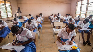 File photo: Students sitting for WASSCE examinations