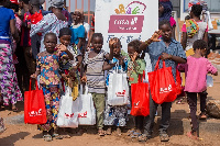 Over 800 people were supported with foods and drinks from within the Madina Community