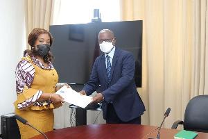 Ayorkor Botchwey received credentials of Ethiopian Ambassador-designate