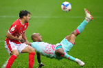 Andre Ayew picks up Man of the Match plaque as Swansea beats Nottingham Forrest