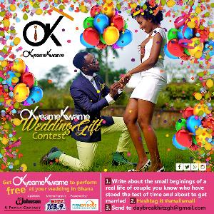 Okyeame Kwame's wedding gift promo
