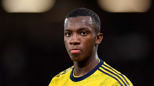 Nketiah was on target against Everton