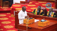 Finance Minister Ken Ofori Atta presenting the  mid-year budget review