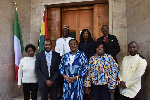 Ghana's Ambassador to Italy in a group photo at the launch