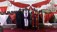 Rev Dr Asare Kusi (middle) inducted as Koforidua Methodist Bishop