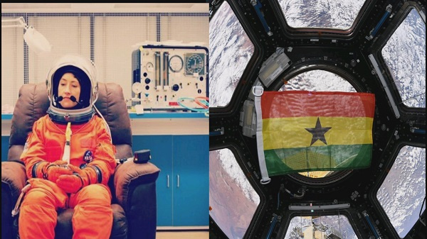 Ghana flag stays in space after return of American astronaut